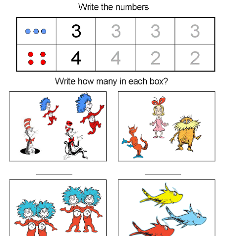 Math Activity Worksheets for Kids